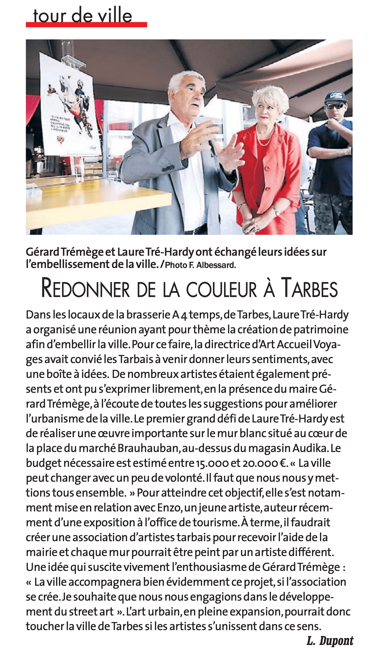 article de presse du journal ladepeche